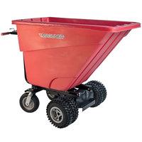 Magliner MHCSDB 0.5 Cubic Yard Motorized Hopper Cart with Dual 13 inch Aggressive Tread Pneumatic Wheels and Dual Handle Bars (400 lb.)