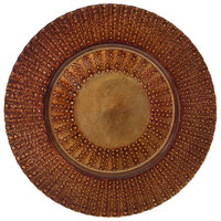 10 Strawberry Street AZT-340CPR Aztec 13 inch Copper Glass Charger Plate