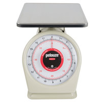 Rubbermaid FG840BW Pelouze 40 lb. / 18 kg. Portion Scale - 9 inch x 9 inch Platform