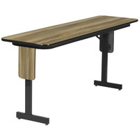 Correll SP2496PX-53 24 inch x 96 inch Colonial Hickory Premium Laminate High Pressure Folding Seminar Table with Panel Legs