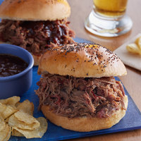 Brookwood Farms 5 lb. Fully Cooked Semi-Dry Pulled Beef Brisket - 2/Case