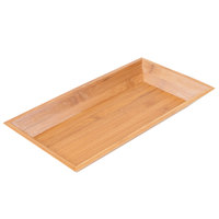 American Metalcraft BAM14 Rectangular Bamboo Tray - 14 1/4 inch x 7 1/2 inch
