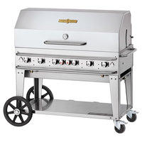 Crown Verity CV-RCB-48-1RDP 48 inch Pro Series Outdoor Rental Grill with Single Roll Dome Package