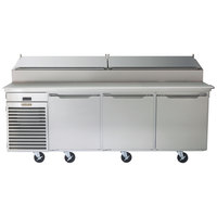 Traulsen TS090HT 90 inch Salad / Pizza Prep Refrigerator with Three Doors - Specification Line