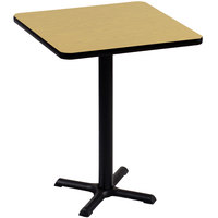 Correll BXB24S-16 24 inch Square Fusion Maple Finish Bar Height High Pressure Cafe / Breakroom Table