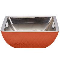 Bon Chef Diamond Collection Cold Wave 2 Qt. Orange Triple Wall Square Bowl