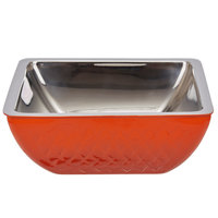Bon Chef Diamond Collection Cold Wave 3 Qt. Orange Triple Wall Square Bowl