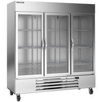 Beverage-Air HBF72HC-5-G Horizon Series 75 inch Glass Door Reach-In Freezer with LED Lighting - 69 cu. ft.