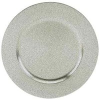 Tabletop Classics TRS-6695 13 inch Speckled Silver Round Acrylic Charger Plate