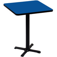 Correll BXB36S-37 36 inch Square Blue Finish Bar Height High Pressure Cafe / Breakroom Table