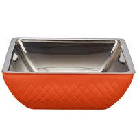 Bon Chef Diamond Collection Cold Wave 4 Qt. Orange Triple Wall Square Bowl