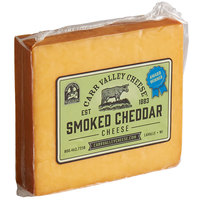 Carr Valley Cheese Company 7 oz. Hickory Smoked Cheddar Cheese - 12/Case