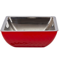Bon Chef Diamond Collection Cold Wave 3 Qt. Red Triple Wall Square Bowl