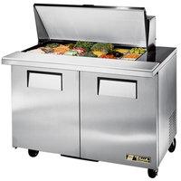 True TSSU-48-18M-B 48 inch Mega Top 2 Door Sandwich / Salad Prep Refrigerator
