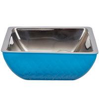Bon Chef Diamond Collection Cold Wave 2 Qt. Caribbean Blue Triple Wall Square Bowl