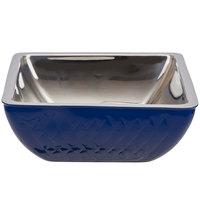 Bon Chef Diamond Collection Cold Wave 2 Qt. Cobalt Blue Triple Wall Square Bowl
