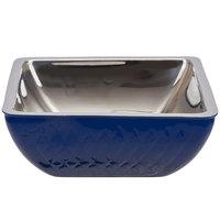 Bon Chef Diamond Collection Cold Wave 3 Qt. Cobalt Blue Triple Wall Square Bowl