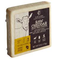 LaClare Family Creamery 6 oz. Raw Goat Milk Cheddar Cheese - 12/Case
