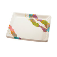 GET 252-18-CO 7 inch x 7 inch Contemporary Melamine Square Plate   - 12/Pack