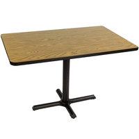 Correll BCT3042-06 30 inch x 42 inch Rectangular Medium Oak Finish Standard Height High Pressure Cafe / Breakroom Table