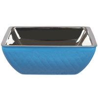 Bon Chef Diamond Collection Cold Wave 4 Qt. Caribbean Blue Triple Wall Square Bowl