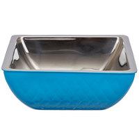 Bon Chef Diamond Collection Cold Wave 3 Qt. Caribbean Blue Triple Wall Square Bowl