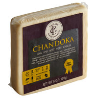 LaClare Family Creamery 6 oz. Cloth-Bound Aged Chandoka Cheese - 12/Case