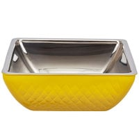 Bon Chef Diamond Collection Cold Wave 4 Qt. Yellow Triple Wall Square Bowl