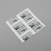 American Metalcraft PPRN2121 12 inch x 12 inch White Newspaper Print Paper - 1000/Pack