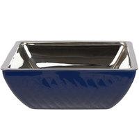 Bon Chef Diamond Collection Cold Wave 4 Qt. Cobalt Blue Triple Wall Square Bowl