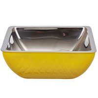 Bon Chef Diamond Collection Cold Wave 3 Qt. Yellow Triple Wall Square Bowl