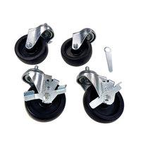 True 872033 2 1/2 inch Swivel Stem Casters - 4 / Set