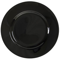 10 Strawberry Street BRB0005 Black Rim 6 3/4 inch Porcelain Bread and Butter Plate - 24/Case