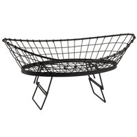 Tablecraft GMT2412 Grand Master Transformer Oblong Black Metal Basket - 24 inch x 12 inch x 6 inch