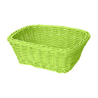 GET WB-1506-G 9 1/2 inch x 7 3/4 inch x 3 1/2 inch Designer Polyweave Green Rectangular Basket - 12/Case