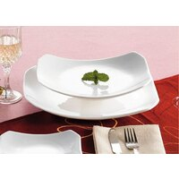 CAC RCN-H14 Bright White 12 1/2 inch x 9 3/4 inch China Rectangular Tasting Platter 12/Case
