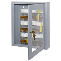 MMF Industries 2019V06001 Steelmaster Uni-Tag Vue 60-Key Cabinet with Viewing Window