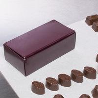5 1/2 inch x 2 3/4 inch x 1 3/4 inch 1-Piece 1/2 lb. Burgundy Candy Box   - 250/Case