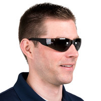 Scratch-Resistant Safety Glasses / Eye Protection - Black with Gray Lens