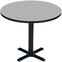 Correll BXB42R-15 42 inch Round Gray Granite Finish Bar Height High Pressure Cafe / Breakroom Table