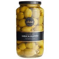 Belosa 32 oz. Jalapeno & Garlic Stuffed Queen Olives