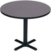 Correll BXB36R-07 36 inch Round Black Finish Bar Height High Pressure Cafe / Breakroom Table
