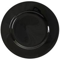 10 Strawberry Street BRB0004 Black Rim 7 3/4 inch Porcelain Salad Plate - 24/Case