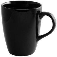 10 Strawberry Street BRB0100 Black Rim 12 oz. Porcelain Barrel Mug - 24/Case