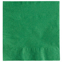 Choice 10 inch x 10 inch Customizable Festive Green 2-Ply Beverage / Cocktail Napkins - 1000/Case