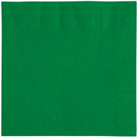 "Choice 10"" x 10"" Customizable Festive Green 2-Ply Beverage / Cocktail Napkins - 1000/Case"