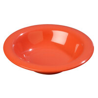 Carlisle 4304052 Durus 6 oz. Sunset Orange Rimmed Melamine Bowl - 48/Case