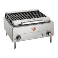 Wells B-40 24 inch Stainless Steel Electric Charbroiler with Two Control Knobs - 208V, 5400W