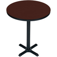 Correll BXB24R-21 24 inch Round Cherry Finish Bar Height High Pressure Cafe / Breakroom Table