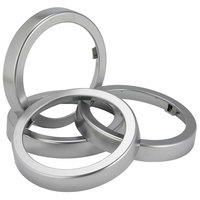 San Jamar C52XC Sentry Metal Finish Rings - 2 / Pack